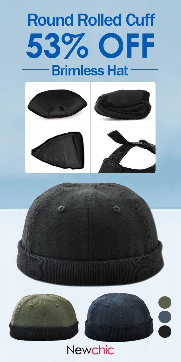0d0bcf151d7b3  US  9.33 Retro Skullcap Sailor Cap Worker Hat Rolled Cuff Brimless Hat  Adjustable.  cap  hat  retro  mensfashion