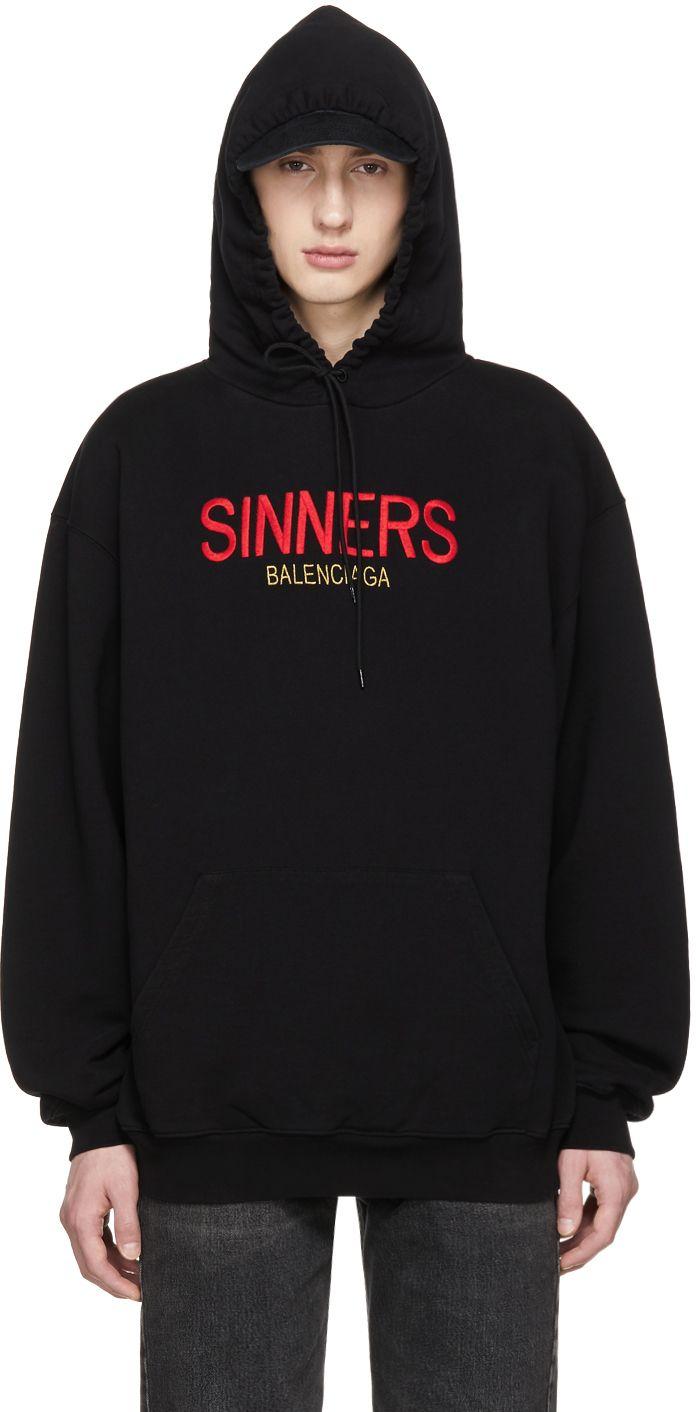 fbaaa3da411a Balenciaga - Black Oversized  Sinners  Hoodie