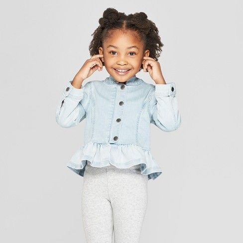 712215986 Toddler Girls' Ombre Denim Jacket - Genuine Kids® from OshKosh Blue ...