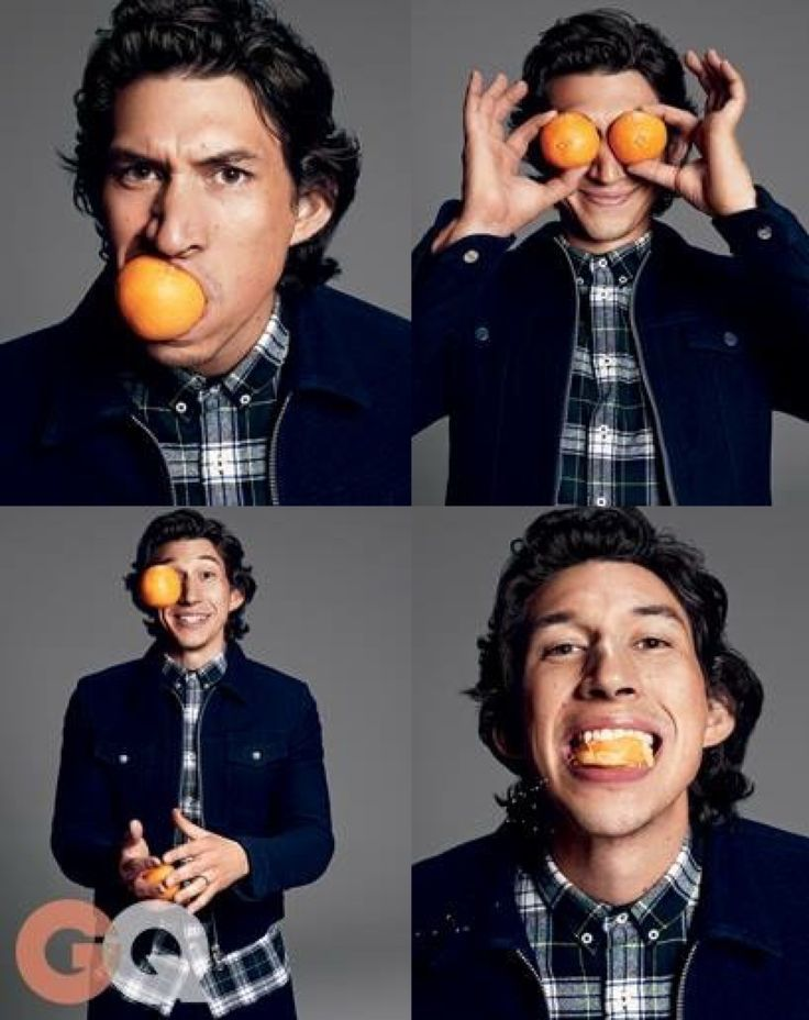 Adam Driver (kylo ren).  He usually looks so intense an serious (Marine background).  It's good to see he has a goofy side.