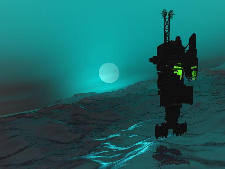 stacja, gdzieś nad oceanem nieznanej planety
