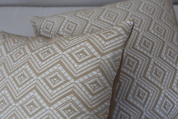 Set of 5, Decorative Caramel and White Pillow Cover Set, Living Room, Bedroom on Etsy, $49.00