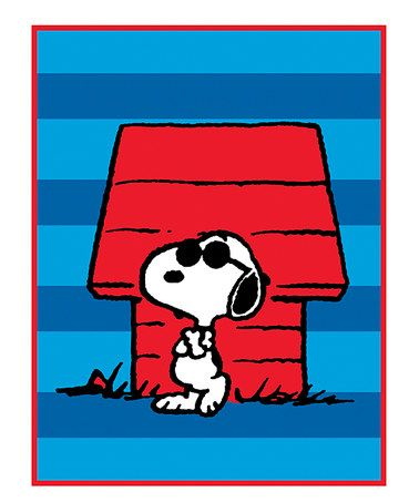 Look what I found on #zulily! Peanuts Snoopy Sunglasses Throw #zulilyfinds