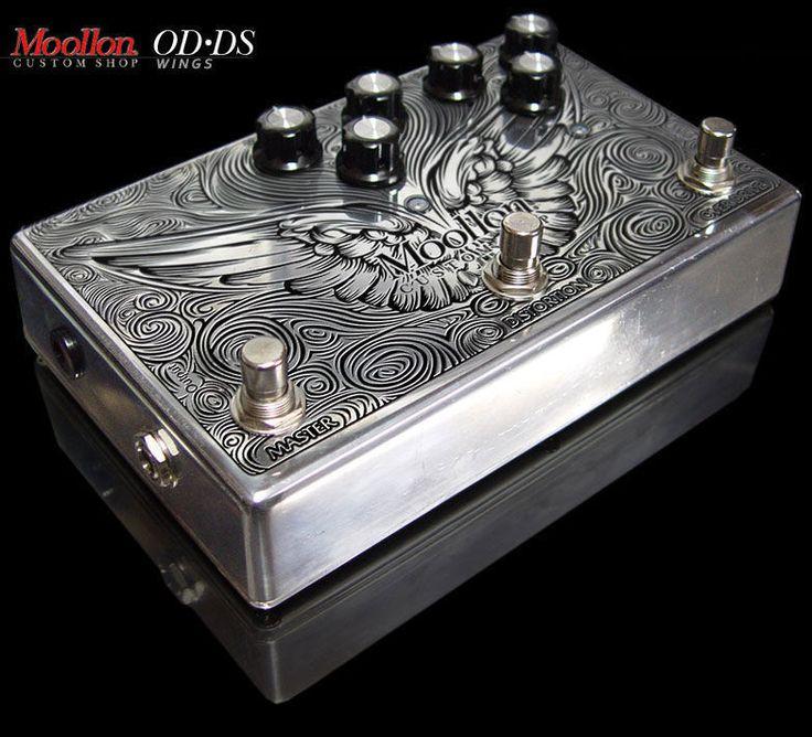 Moollon Custom Shop Effects OD/DS Overdrive Distortion Unique Design Pedal Wings #Moollon