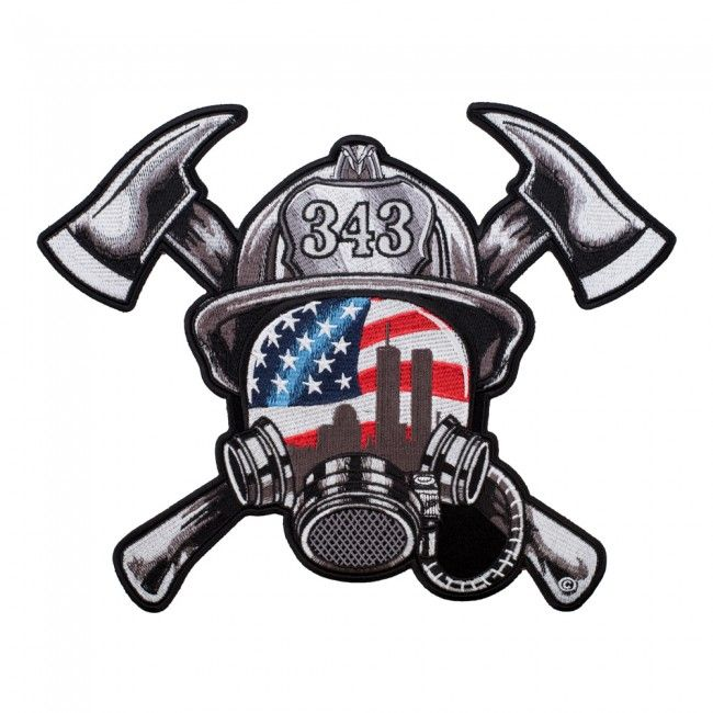 Embroidered 343 Firefighter September 11th Remembered Patch