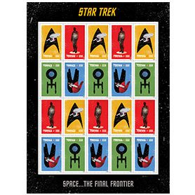 Star Trek Stamps -- because the post offices in NYC are insane and who wants to wait 2 hours in line for stamps?