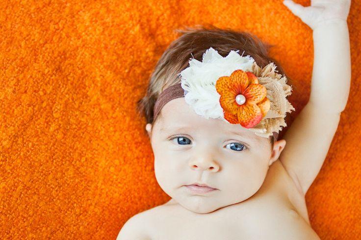 Baby Headband, Fall Headband, Thanksgiving headband, newborn photo prop, infant headband, First thanksgiving, baby accessories by AubreyGianna on Etsy https://www.etsy.com/listing/165298195/baby-headband-fall-headband-thanksgiving