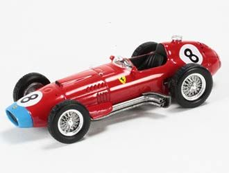 """This Ferrari 801 (Mike Hawthorn - German GP 1957) Diecast Model Car is Red and features working wheels. It is made by IXO and is 1:43 scale (approx. 9cm / 3.5in long).        """"La Storia"""" is IXO's celebration of the unrivalled racing history of Ferrari's Grand Prix cars.  Each model comes in its own custom labelled metal, book-shaped box complete with booklet detailing the car's history and specifications.  This is a fine addition to the collection of any Ferrari or GP fan...."""