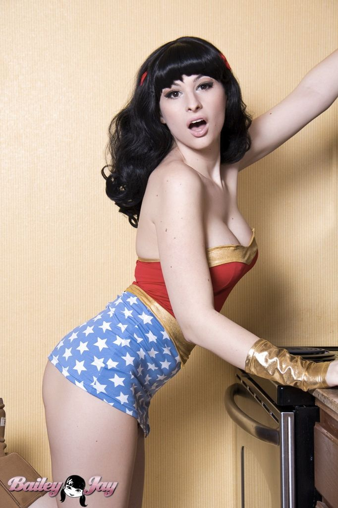 Tranny in wonderwoman costume
