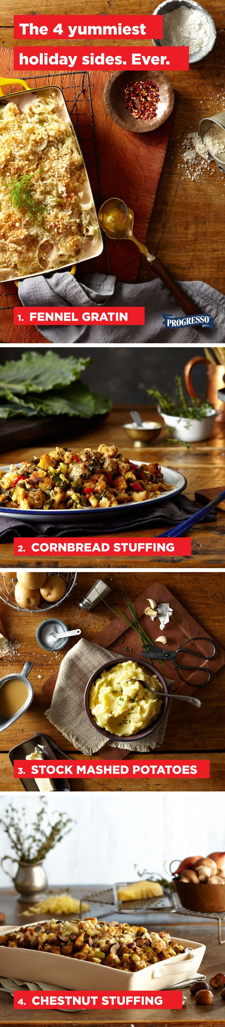 If you're a fan of things that taste good, we have four next-level holiday side dishes for you to bring to your next gathering.