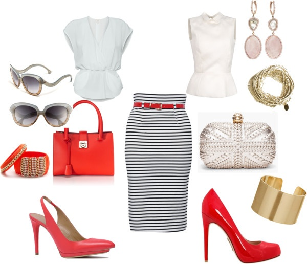"""""""One skirt and two outfits"""" by ilda83 on Polyvore"""