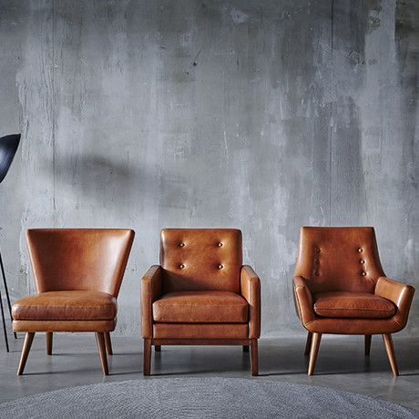 Retro Hazelnut Occasional Chairs by Freedom