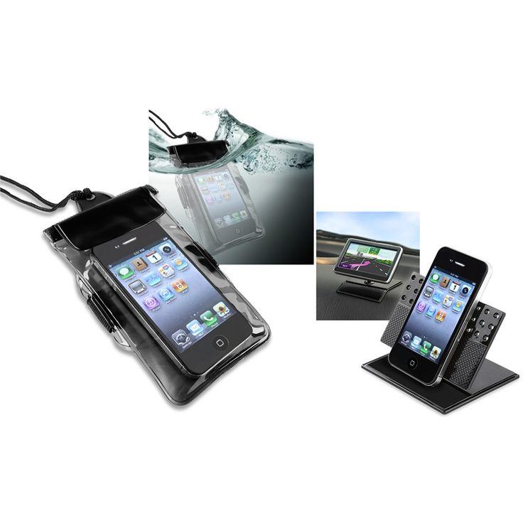 Insten Waterproof Bag/ Dashboard Phone Holder for HTC EVO 4G LTE, #744374