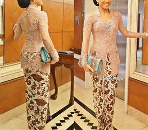 Vera kebaya, soft bronze, brokat, beads