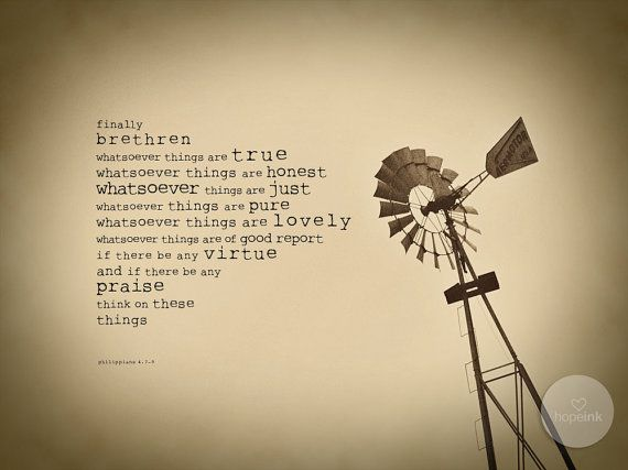 Scripture Art Print True and Lovely Vintage Windmill by hopeink, $24.00