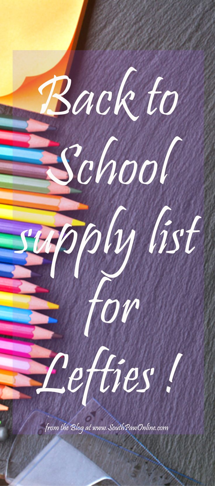 National Left Handers Day + back to school list. Luckily now a days your left-handed child can thrive in school with today's specially made products. Click to read more.