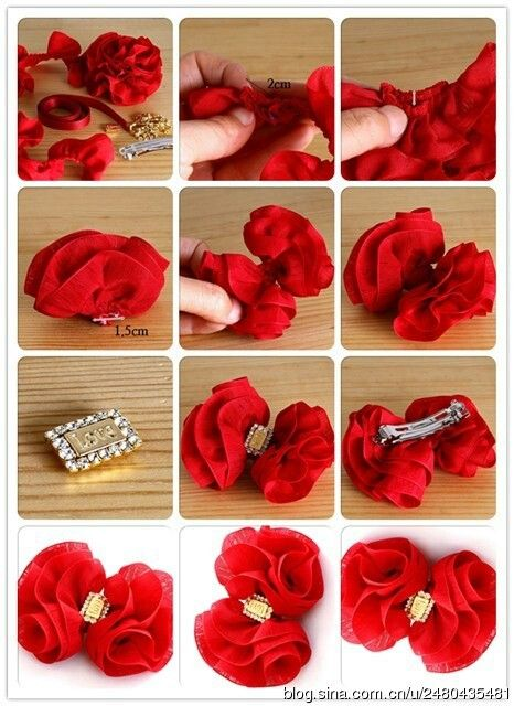 Posh yet cute red hair bow tutorial