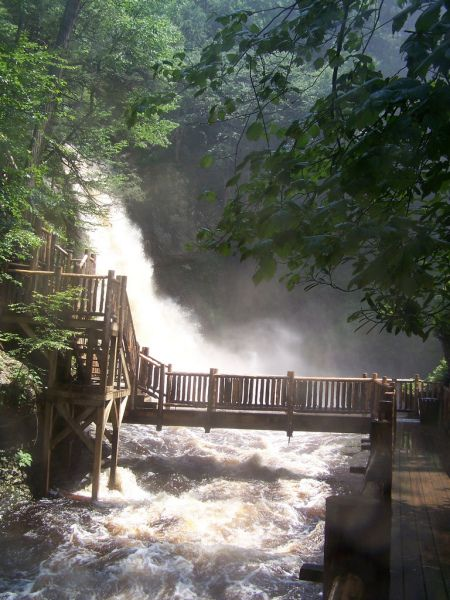 "My favorite place to hike: Bushkill Falls, PA--in the heart of the Poconos and gorgeous in the fall. Lovingly described as the ""Niagara Falls"" of Pennsylvania..."