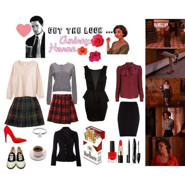 """Get the look ... Audrey Horne"" by sunshineshoegaze on Polyvore #twin_peaks #audrey_horne"