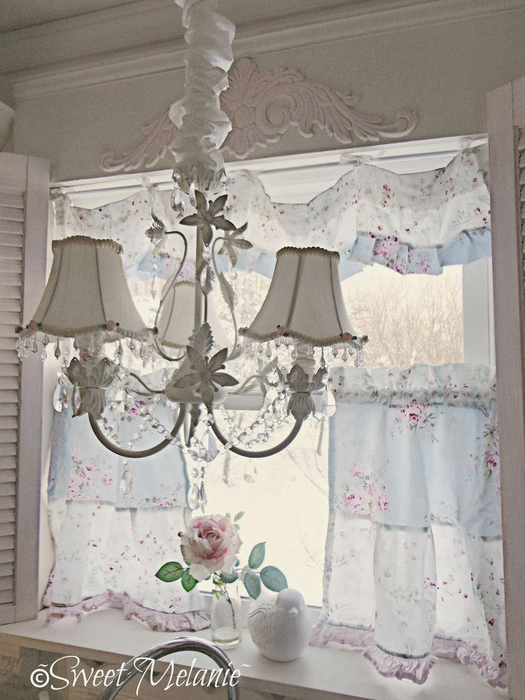 17 best images about pillows window treatments place Shabby chic curtain window