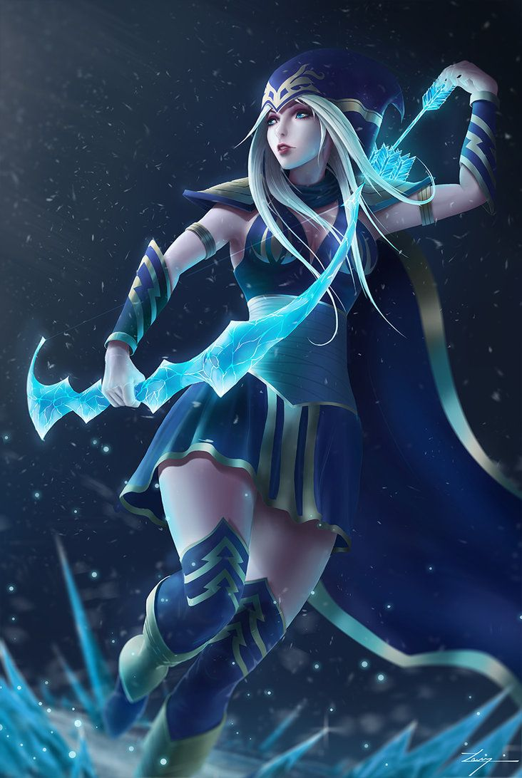 Ashe, from League of Legends. This one took a bit longer than expected, but I hope it was worth the wait  Support me on: Facebook Instagram Tumblr Pinterest DrawCrowd Artstation O...