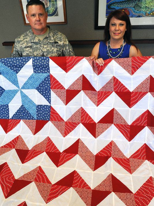 amazing beautiful quilt honoring our veterans