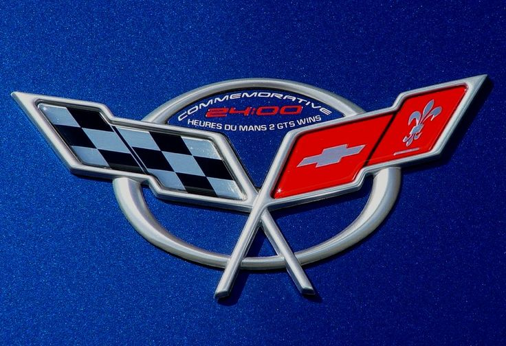 C5 Corvette Emblem Inserts American Flag