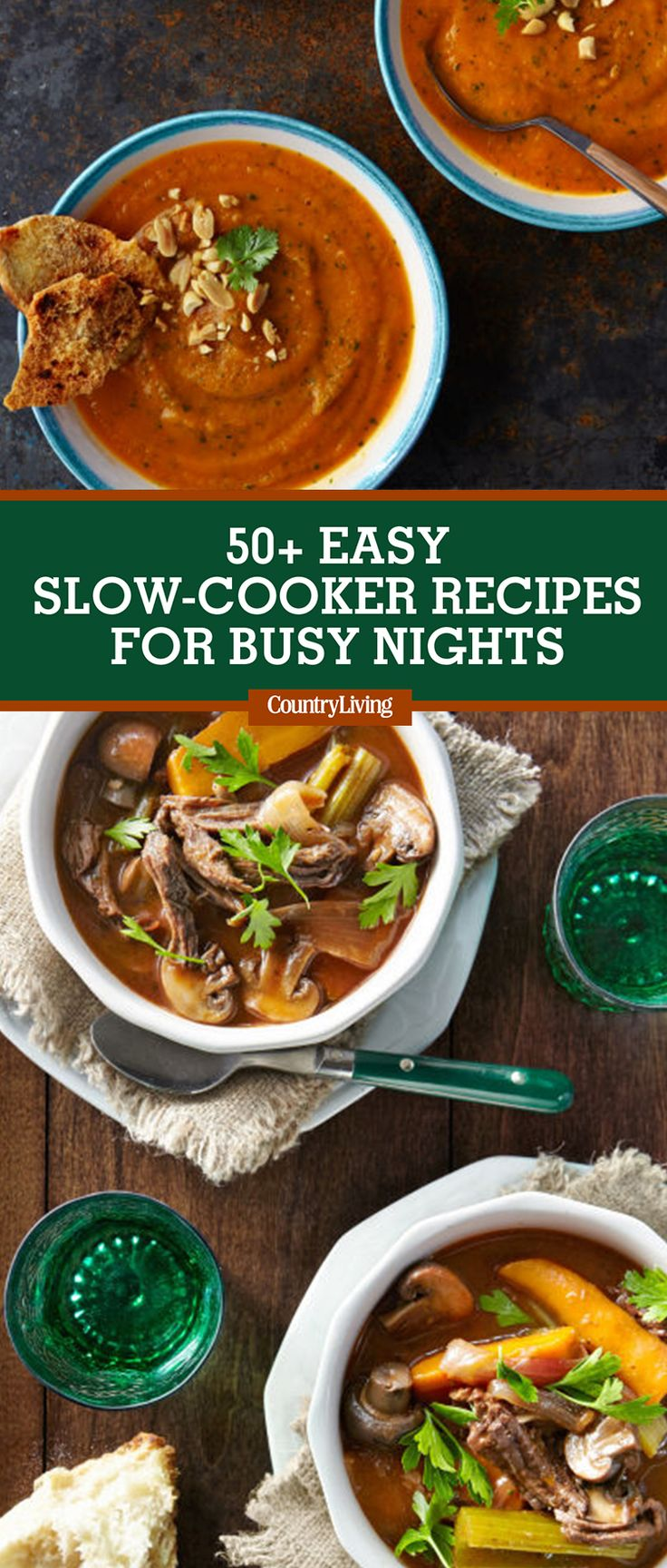 Save these slow-cooker recipes for later by pinning this image, and follow Country Living on Pinterest for more.Tools you'll need: $21, Crock-Pot 7-Quart Stainless Steel, amazon.com