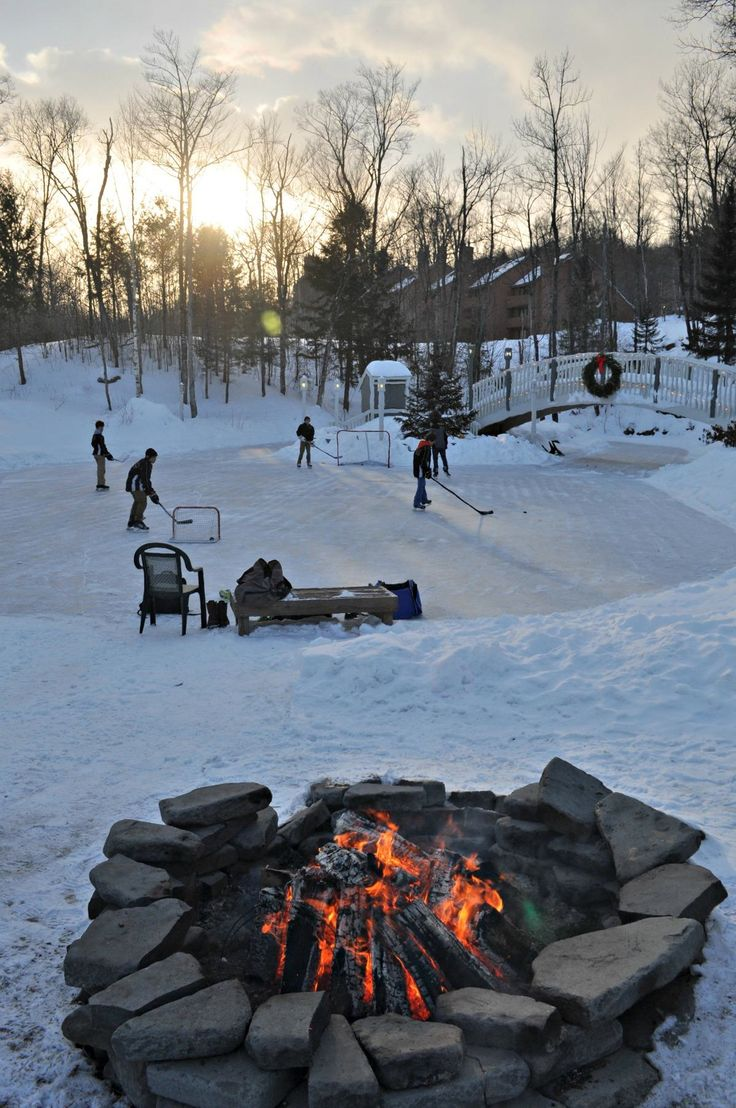 Pond Hockey in the White Mountains of New Hampshire at Nordic Village Resort. http://www.nordicvillage.com