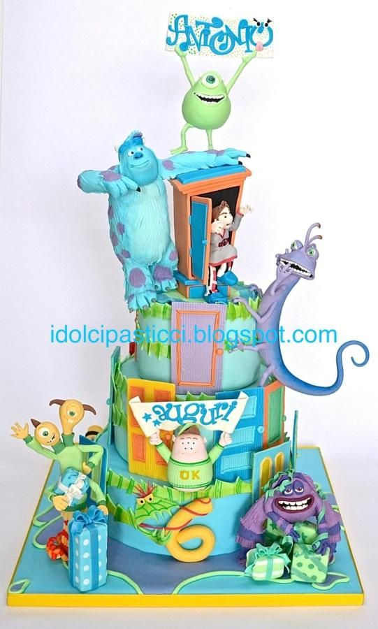 """EDITOR'S CHOICE (08/21/2014) Cake """"Monster & Co"""" by Daniela Lava by Daniela74 View details here: http://cakesdecor.com/cakes/152269-cake-monster-co-by-daniela-lava"""