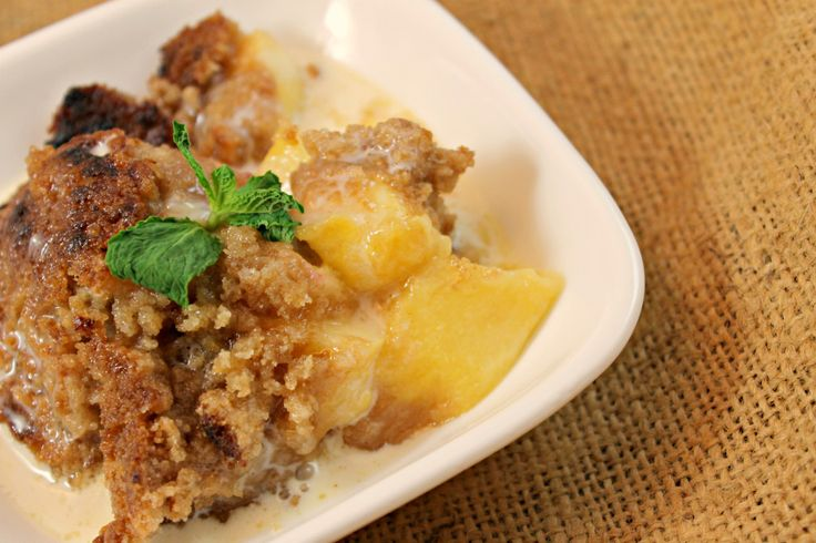 Peach Crisp with Maple Cream Sauce | Pies Crisps Cobblers & puddings ...