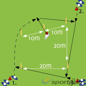 5 Stump Pentagon Drill Ground fielding and throwing Drills Cricket Coaching Tips - Sportplan Ltd