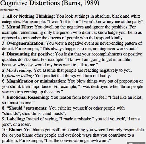 Best 25+ Cognitive distortions worksheet ideas on Pinterest | Cbt ...
