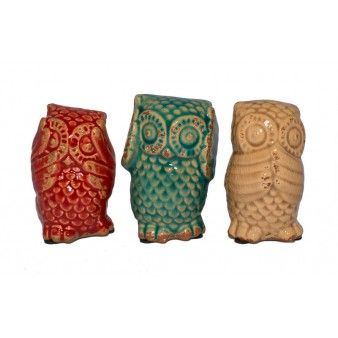 Three Wise Owls - Set of 3 http://thechicnest.com.au/