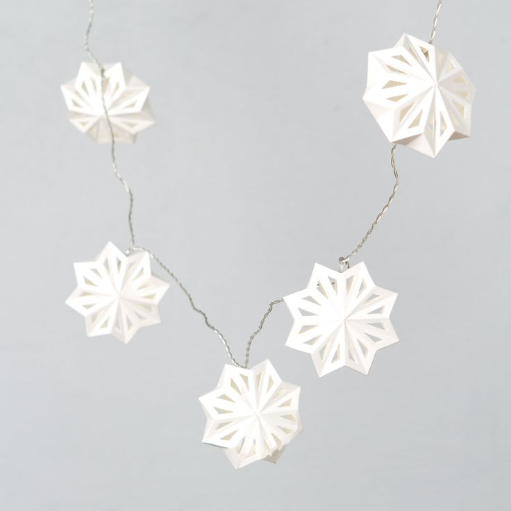 Swedish Paper Snowflake Lights in Holiday Trim Your Home Lighting at Terrain