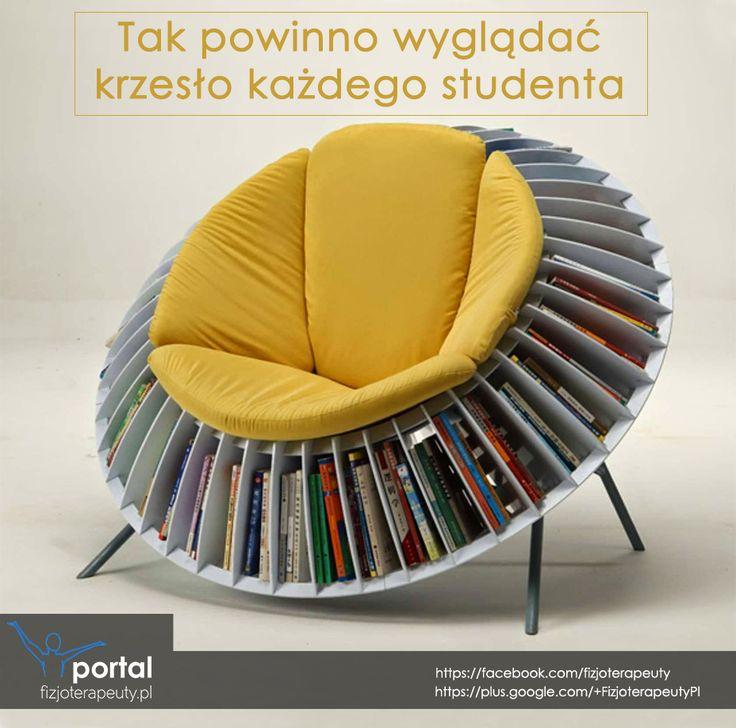 Tak wygląda krzesło prawdziwego studenta :)
