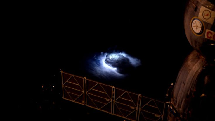From the unique viewing location of the International Space Station (ISS), Danish astronaut Andreas Mogensen captured what may be the first ever photographs of strange and rarely-seen features of thunderstorms.