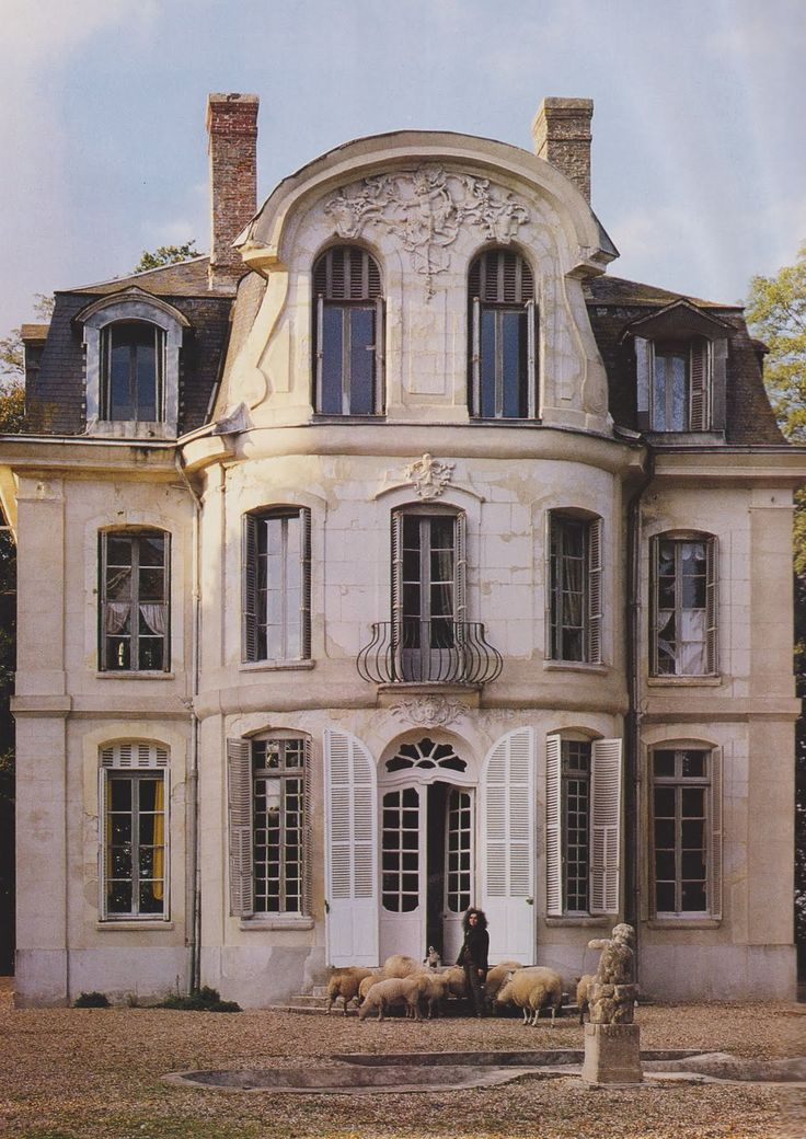 The Chateau de Morson Normandy France, restored by Ted & Lillian Willams. Image via The Essence of French.