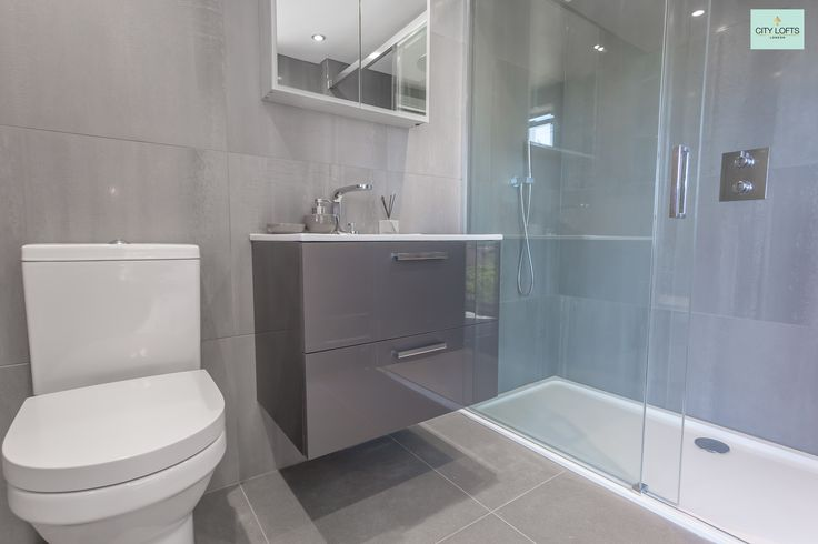 #ensuite #showerroom in this #northwood #loftconversion with #floatingBasin and low profile #showertray with #glassshowerscreen