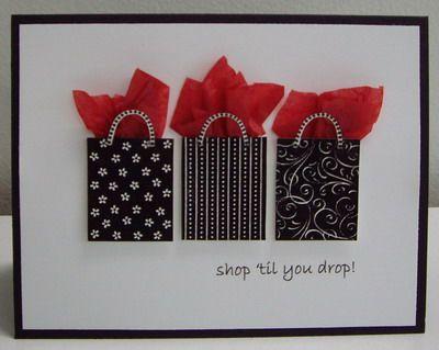 Idea for scraps. Cute little shopping bags!