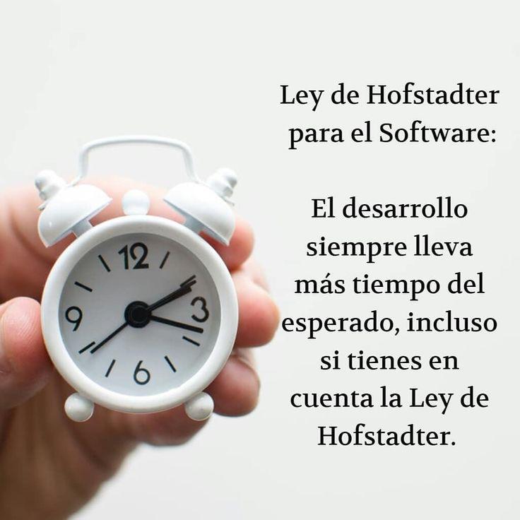 Ley de Hofstadter para el Software:  El desarrollo siempre lleva más tiempo del esperado, incluso si tienes en cuenta la Ley de Hofstadter.