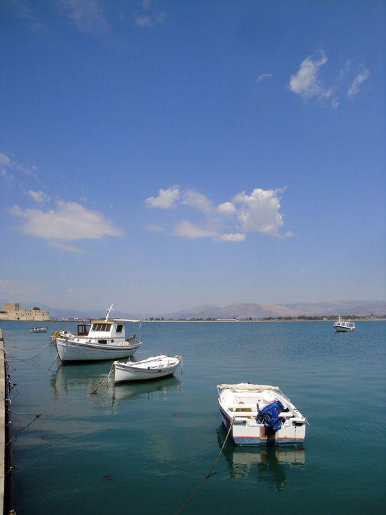 Fishing boats in the port of #Nafplio, #Argolida, #Greece
