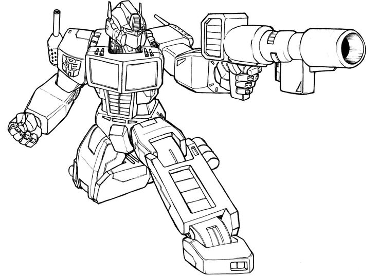 enemy shooting transformers coloring pages - Transformers Prime Coloring Pages