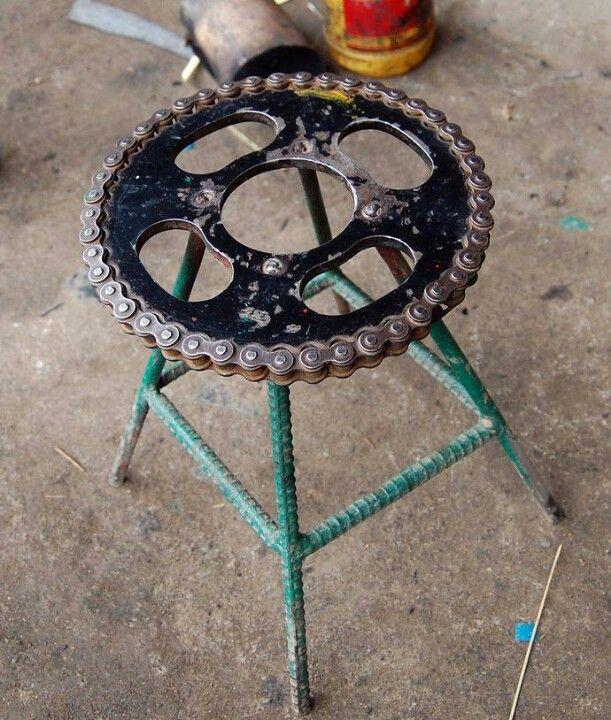 Chain n sprocket stool