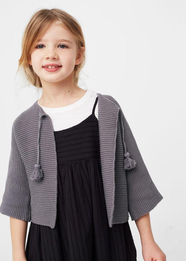 Metallic cotton-blend cardigan | MANGO KIDS