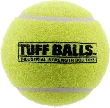 "PetSport Tuff Tennis Ball Bulk Dog Toy Industrial-Strength Non-Toxic 4"""""