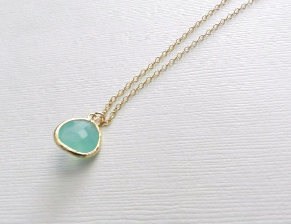 Mint julep gold delicate modern jewelry by LemonSweetJewelry, $18.00