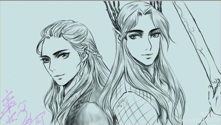 "sigun-i-loki: "" Legolas and Thranduil by 离千北. """