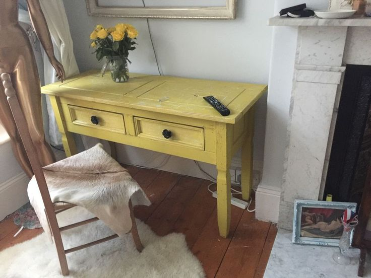 Vintage Rustic Chic / Scandinavian Style Console Table / Desk / Dressing Table /  | eBay