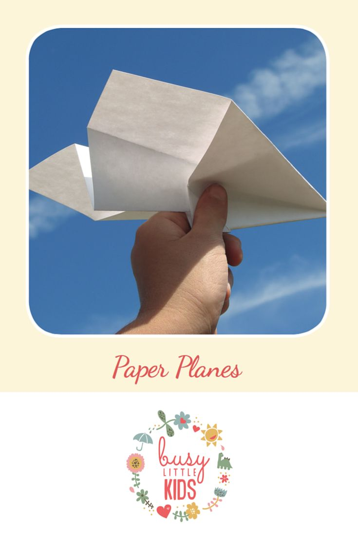 Fun, simple, easy sunny day kids activity - Paper Planes